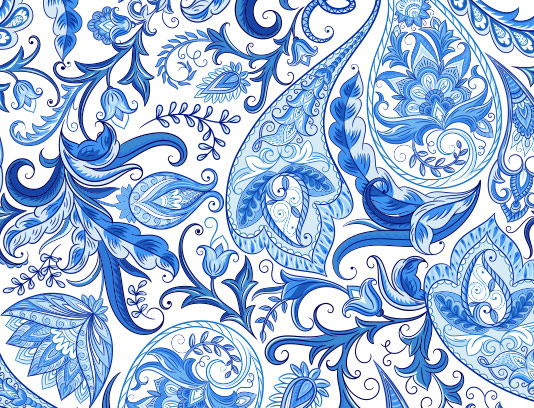 پس زمینه سنتی آبی رنگ
