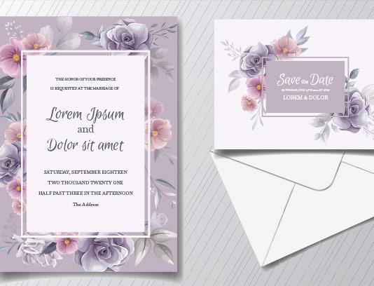 وکتور کارت دعوت عروسی زیبا