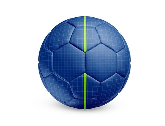 موکاپ توپ فوتبال با کیفیت