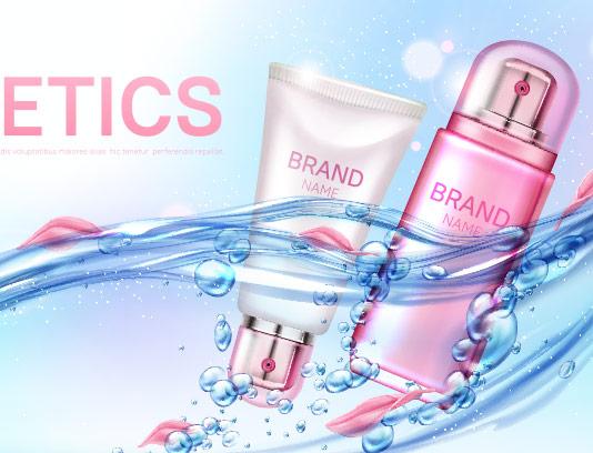 وکتور طرح محصولات آرایشی