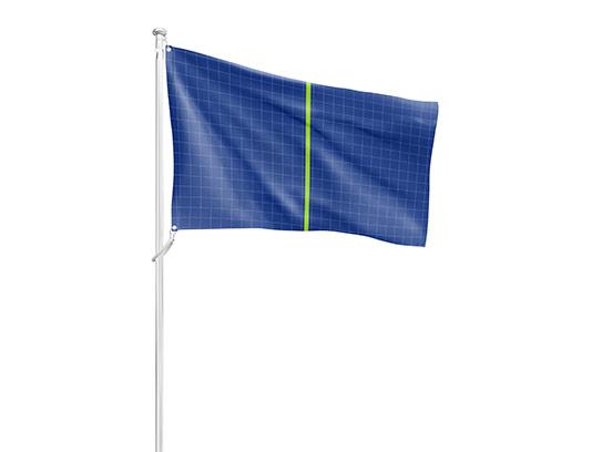 موکاپ پرچم در حال اهتزاز