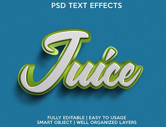 موکاپ متن سه بعدی سبز