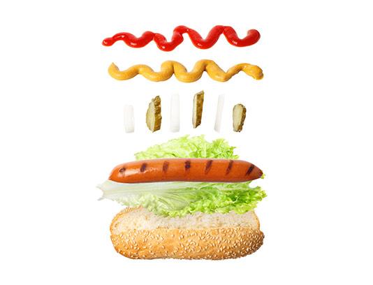 عکس ساندویچ هات داگ خلاقانه
