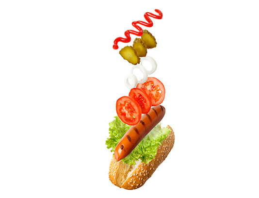 عکس ساندویچ هات داگ با کیفیت