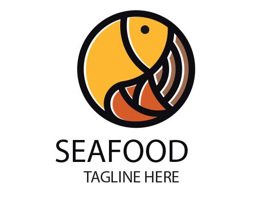 وکتور لوگو غذای دریایی