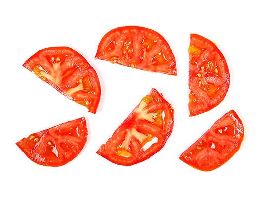 عکس گوجه فرنگی برش خورده