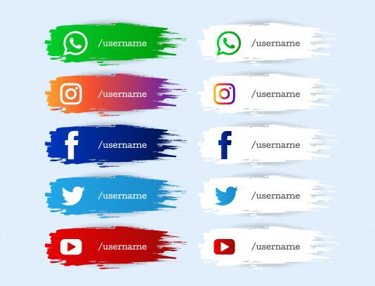 وکتور آیکون شبکه های اجتماعی