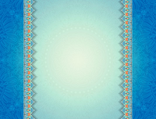 وکتور زمینه سنتی آبی رنگ