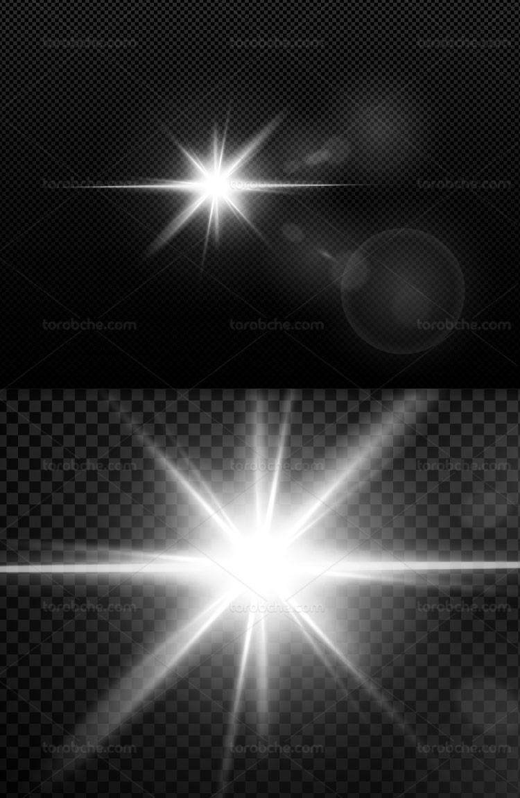 وکتور افکت نور ستاره ای