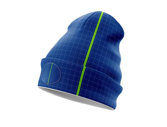 موکاپ کلاه زمستانی مردانه
