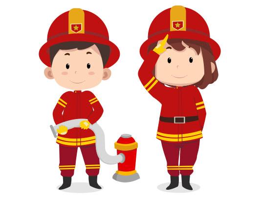 وکتور کودک آتشنشان