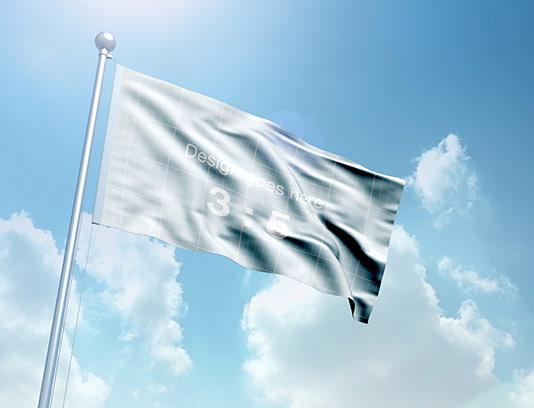 موکاپ پرچم با کیفیت