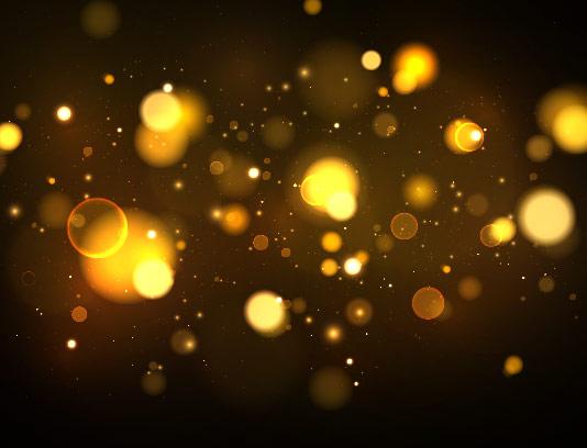 وکتور افکت نور درخشان طلایی