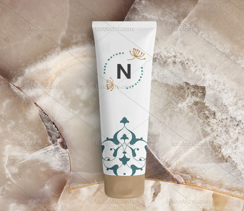 طراحی بسته بندی لوازم آرایشی و بهداشتی با نقوش اسلیمی