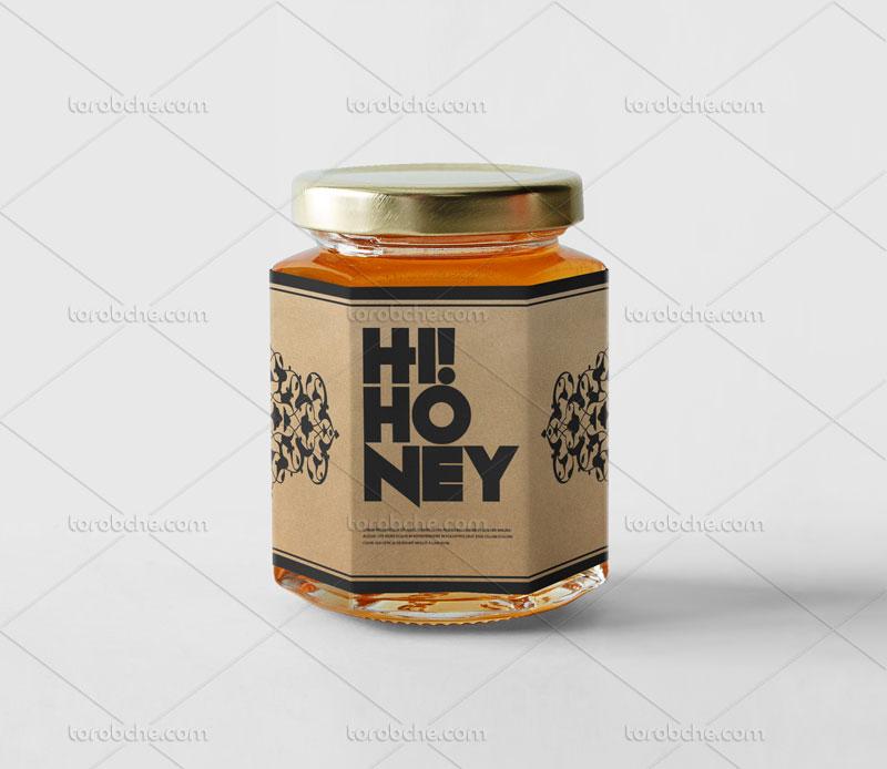 طراحی بسته بندی عسل با نقوش اسلیمی