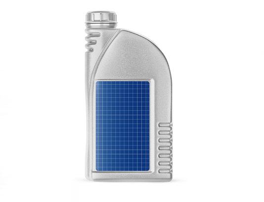 موکاپ بطری روغن ماشین پلاستیکی