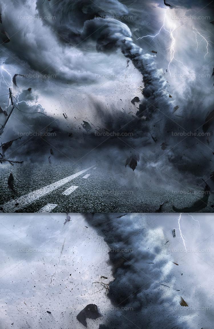 عکس گردباد و طوفان