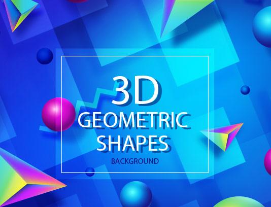 وکتور زمینه اشکال هندسی سه بعدی