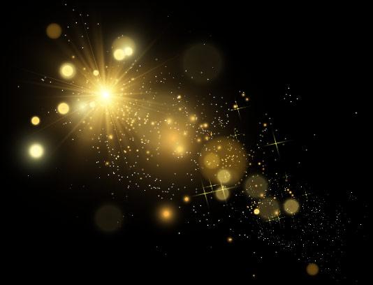 وکتور افکت نور ستاره ای با کیفیت
