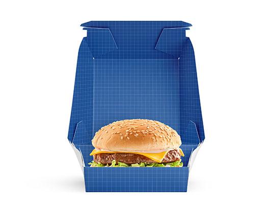موکاپ بسته بندی همبرگر ویژه