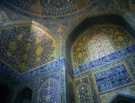 عکس کاشی کاری مسجد با کیفیت