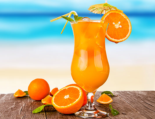 عکس آبمیوه پرتقال خلاقانه