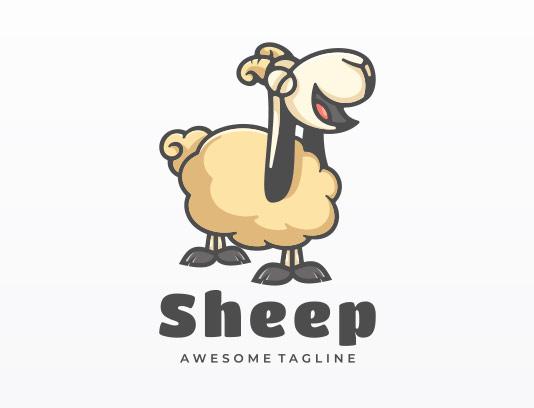 وکتور لوگوی گوسفند