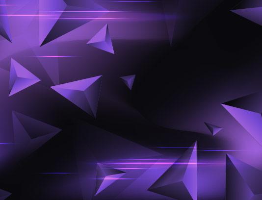 بکگراند مثلث سه بعدی بنفش