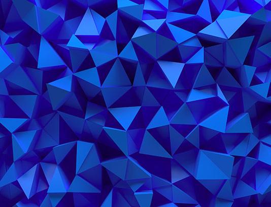 تکسچر و زمینه مثلث سه بعدی آبی