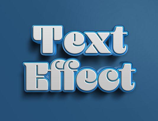 موکاپ متن سه بعدی سفید خلاقانه
