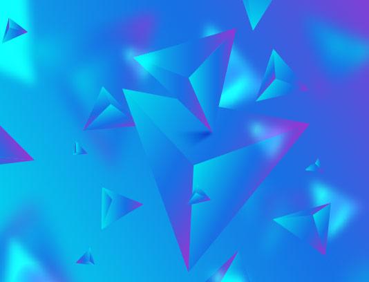 وکتور زمینه مثلث سه بعدی آبی