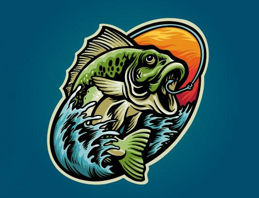 وکتور لوگو ماهیگیری
