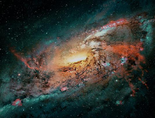 عکس کهکشان با کیفیت بالا