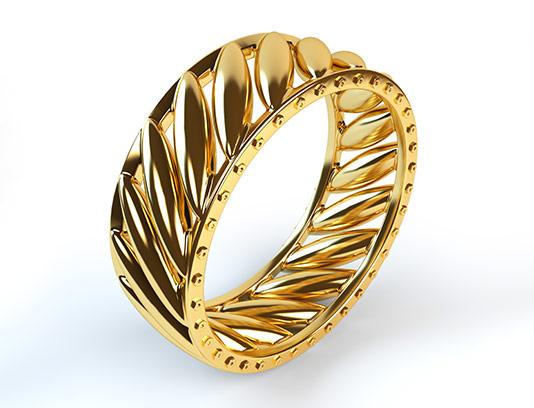 عکس حلقه طلایی با کیفیت