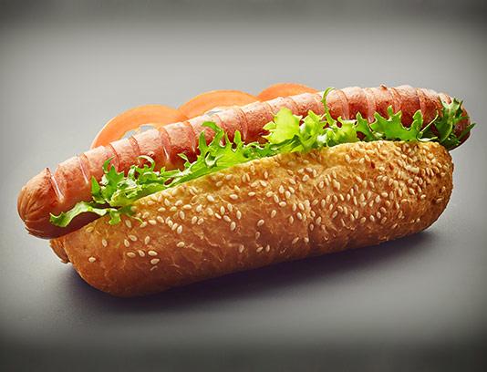 عکس ساندویچ هات داگ با کاهو