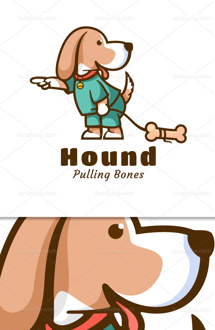 وکتور لوگو سگ شکاری