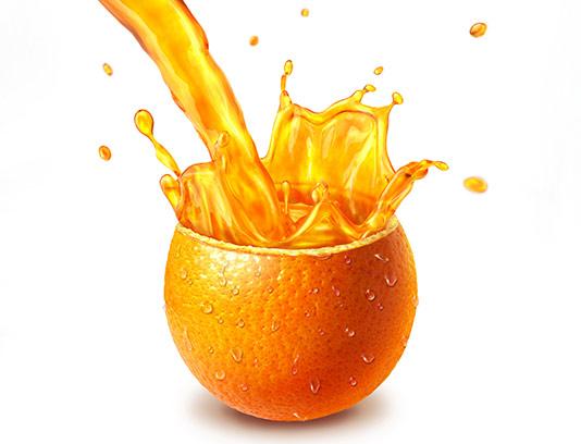 عکس آبمیوه پرتقال طبیعی