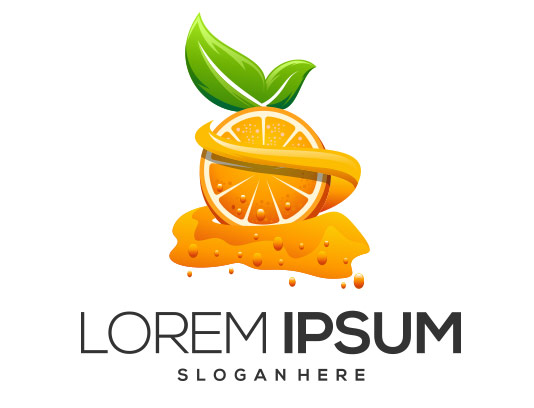 وکتور آبمیوه پرتقال خلاقانه