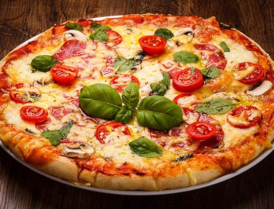 عکس پیتزا قارچ و ریحون