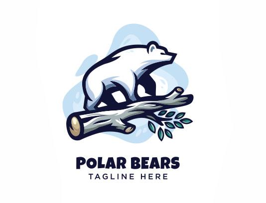 وکتور لوگو خرس قطبی
