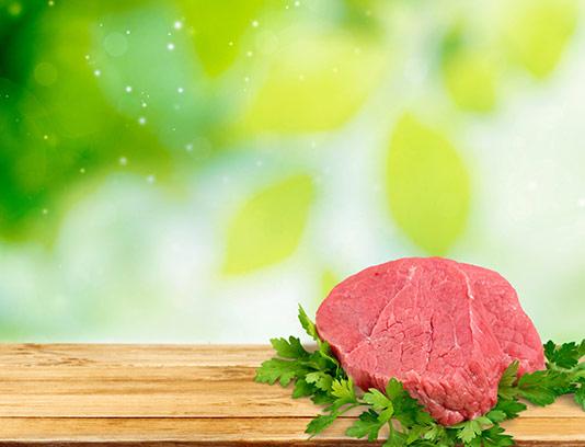 عکس گوشت قرمز با تخته