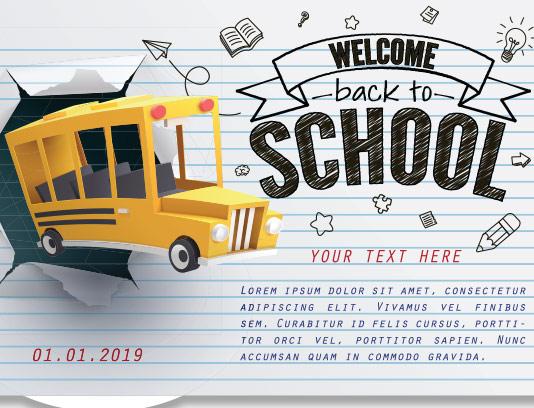بنر بازگشایی مدارس با کیفیت