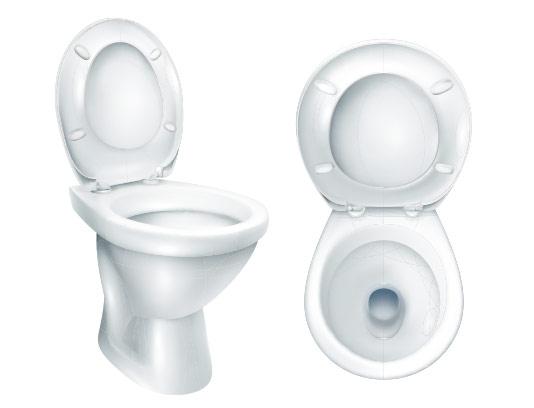 وکتور توالت فرنگی با کیفیت