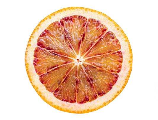 عکس برش پرتقال خونی