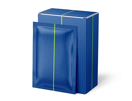 موکاپ بسته بندی و جعبه فویل