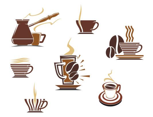 وکتور قهوه و فنجان با کیفیت