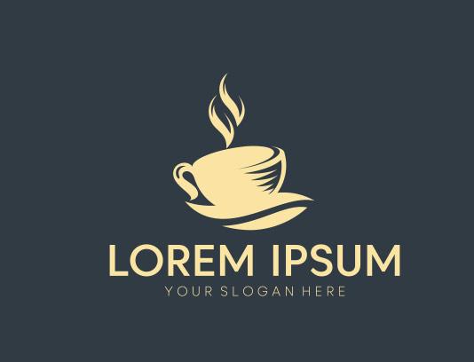 وکتور لوگو فنجان قهوه با کیفیت