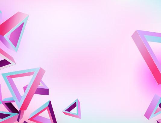 بکگراند مثلث سه بعدی رنگارنگ