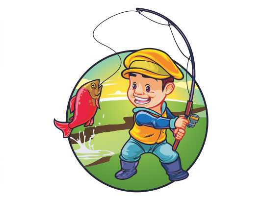 وکتور لوگو ماهیگیری با کیفیت