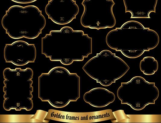 کادر و حاشیه مشکی طلایی